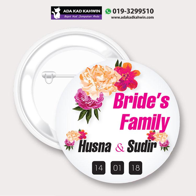 button badges kahwin